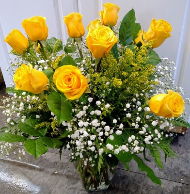 Golden Roses from Rose Garden Florist in Barnegat, NJ