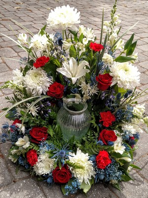 Patriot's Remembrance from Rose Garden Florist in Barnegat, NJ
