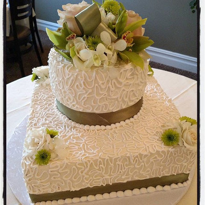 Green Ribbon Cake from Rose Garden Florist in Barnegat, NJ