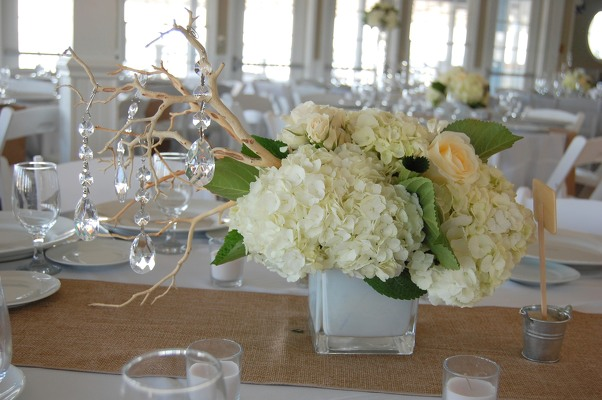 Crystal and Ivory at Brant Beach Yacht Club from Rose Garden Florist in Barnegat, NJ