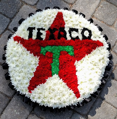 Texaco Company Logo from Rose Garden Florist in Barnegat, NJ