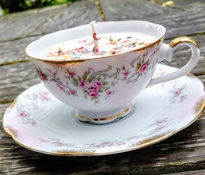 Vintage Teacup Candle from Rose Garden Florist in Barnegat, NJ