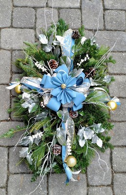 Wintry Grave Blanket from Rose Garden Florist in Barnegat, NJ