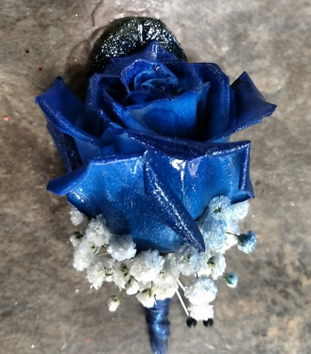 Blue Rose Boutonniere from Rose Garden Florist in Barnegat, NJ