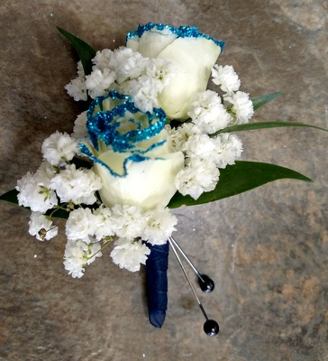 Blue Glitter Tip Roses from Rose Garden Florist in Barnegat, NJ