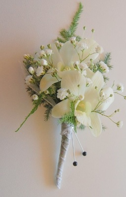 White Dendrobium Orchid Boutonniere from Rose Garden Florist in Barnegat, NJ