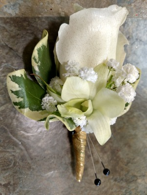 Orchid Rose Boutonniere from Rose Garden Florist in Barnegat, NJ