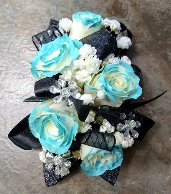 Aqua Tip Rose Corsage from Rose Garden Florist in Barnegat, NJ
