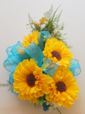 Mini Sunflower Corsage from Rose Garden Florist in Barnegat, NJ