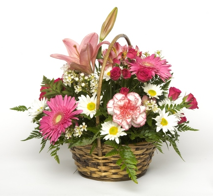 Sweetly Blooming Basket from Rose Garden Florist in Barnegat, NJ